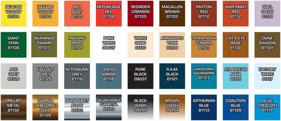 List Of Paint Color Names Dream Pod 9 Heavy Gear Blitz Master Series Set